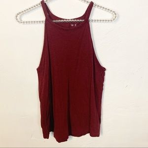 Gap l Burgundy High Neck Tank
